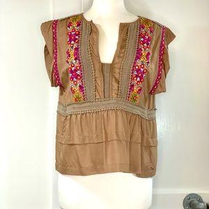Blank London Embellished peasant blouse